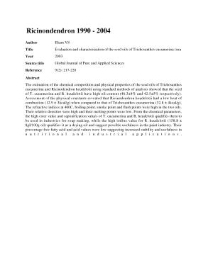 Annotated Bibliiography of Ricinondendron  1990 2004  PDF