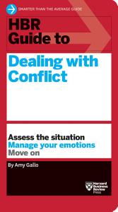 HBR Guide to Dealing with Conflict  HBR Guide Series  Book