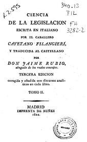 Ciencia de la legislación: Volumen 2