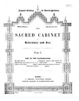 The sacred cabinet of literature and art  Pr PDF