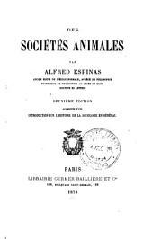 Des sociétés animales