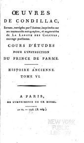 Oeuvres de Condillac: Cours d'études pour l'instruction du prince de Parme]: t. 5. La grammaíre