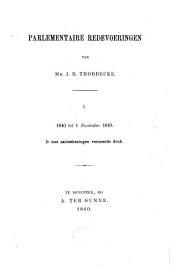 Parlementaire redevoeringen: 1840 tot 1 Nov. 1849 (2e druk, uitgegeven in 1860)