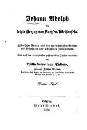 Johann Adolph der letzte Herzog von Sachsen-Wissenfels: historische Roman aus den denkw�urdigsten Epochen des siebzehnten und achtzehnten Jahrhunderts, Teil 2