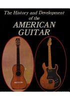 The History and Development of the American Guitar PDF