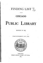 Finding List: Edition of 1884 ... supplement 1-3, My. 1885, My. 1886, Nov. 1887, Volumes 1-3