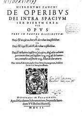 De operibus Dei intra spatium sex dierum