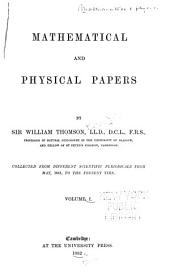 Mathematical and Physical Papers: Volume 1