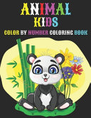 Animal Kids Color By Number Coloring Book