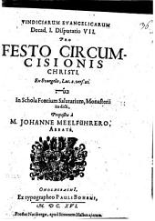 Vindicae evangelicae: Pro festo circumcisionis Christi, ex Evangel. Luc. 2. v. 21, Volume 21