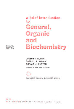 A Brief Introduction to General  Organic  and Biochemistry PDF