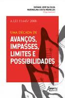 A Lei 11 645  2008  Uma D  cada de Avan  os  Impasses  Limites e Possibilidades PDF