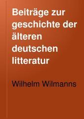 Beiträge zur geschichte der älteren deutschen litteratur: Der altdeutsche reimvers