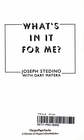 What s in It for Me  PDF