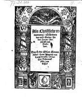 Ain Christliche ermanung, zu fürdern das wort Gottes, an den Herren Bischoff von Breßlaw