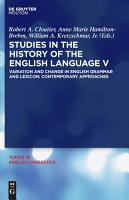 Studies in the History of the English Language V PDF