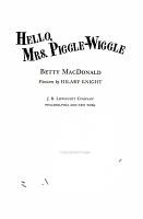 Hello  Mrs  Piggle Wiggle PDF