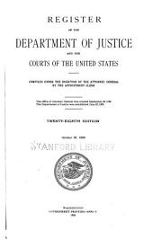 Register of the Department of Justice and the Courts of the United States: Volume 28