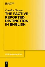The Factive-Reported Distinction in English