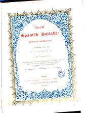 Ancient Spanish Ballads: Historical and Romantic