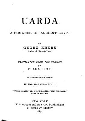 Uarda a Romance of Ancient Egypt PDF