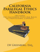 California Paralegal Ethics Handbook PDF