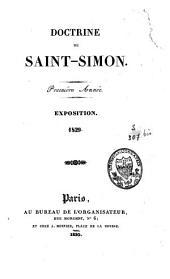 Doctrine de Saint-Simon: première année : exposition 1829