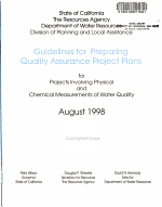 Guidelines for Preparing Quality Assurance Project Plans for Projects Involving Physical and Chemical Measurement of Water Quality