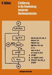 Einführung in die Anwendung Moderner Rechenautomaten
