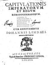 Capitulationes imperatorum et regum romano-germanorum ...