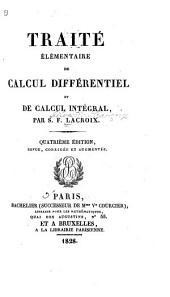 Traité élémentaire de calcul différentiel et de calcul intégral: Volume1
