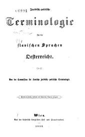 Juridisch-politische Terminologie für die slavischen Sprachen Oesterreichs