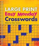 Large Print Easy Monday Crosswords PDF