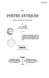 Les poètes antiques grecs: études morales et littéraires