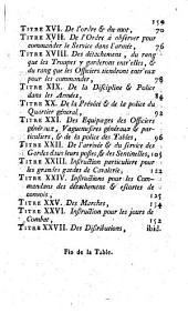 Reglement provisoire sur le service des troupes a cheval en campagne. Di 12 août 1788