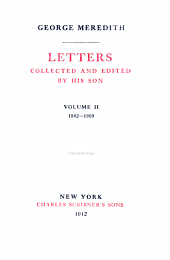 LETTERS COLLECTED AND EDITED BY HIS SON