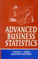 Advanced Business Statistics PDF