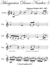 Hungarian Dance Number 5 Easy Violin Sheet Music
