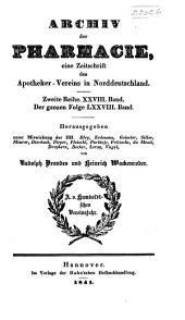 Archiv der Pharmazie und Berichte der Deutschen Pharmazeutischen Gesellschaft: Band 28;Band 78