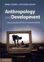 Anthropology and Development PDF
