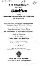 Generalbass- und Harmonie-Lehre