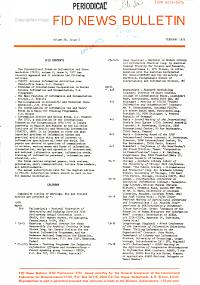 FID News Bulletin PDF