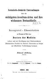 Dissertations, Chemical. Dorpat: Volume 5