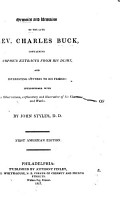Memoirs and Remains of the Late Rev  Charles Buck PDF