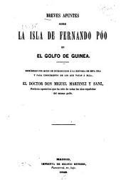 Breves apuntes sobre la Isla de Fernando Po en el Golfo de Guinea