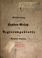 Landes Gesetz  und Regierungs Blatt f  r das Herzogthum Salzburg PDF