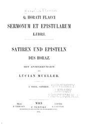 Sermonum et eqistularum libri: Satiren und episteln des Horaz