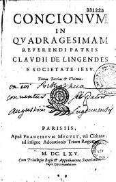 Conciones in quadragesimam