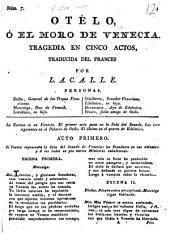 Otélo, ó, El Moro de Venecia: tragedia en cinco actos