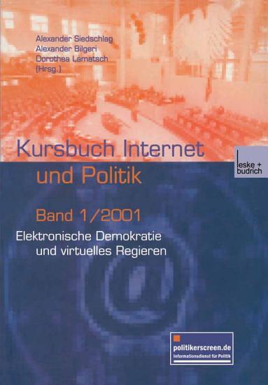 Elektronische Demokratie und virtuelles Regieren PDF